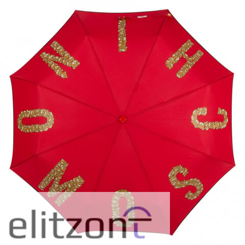 яркий зонт Moschino, купить, зонт от солнца, летний, с мишкой, оригинальный зонт в Москве