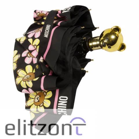 зонт женский, -яркий, -разноцветный зонт Moschino, -модный аксессуар, -доставка брендов по всей России