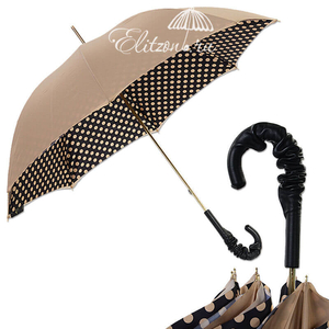 Зонт-трость Pasotti Sand Pois Pelle  фото-1