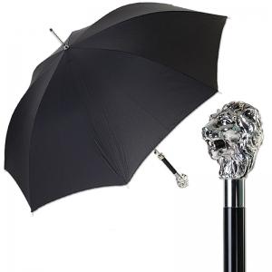 Зонт-трость Pasotti Leone Silver StripesS Black фото-1