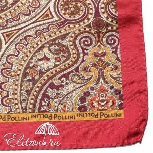 Платок Pollini Snow Red 35х35 100% Шелк фото-3