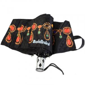 Зонт Складной Baldinini 18-OC Gioia Butterfly Nero  фото-2