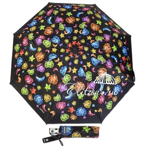 Зонт Складной Baldinini 18-OC Diamante Black фото-1