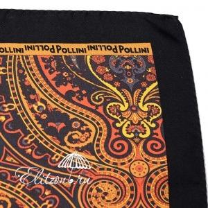 Платок Pollini Snow Nero 35х35 100% Шелк фото-3