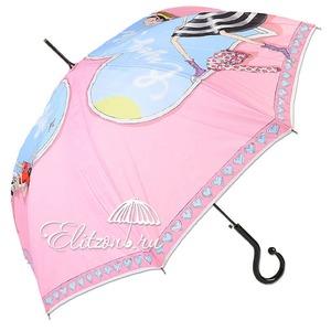 Зонт-трость Moschino 262-61AUTON Olivia enjoy life pink long фото-1