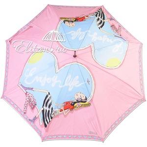 Зонт-трость Moschino 262-61AUTON Olivia enjoy life pink long фото-2