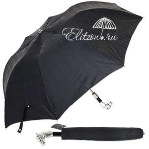 Зонт складной Pasotti Auto Cavallo Silver Cell Black фото-1