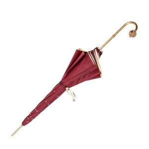 Зонт-трость Pasotti Swarovski Bordo  фото-4