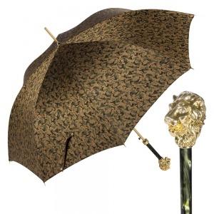 Зонт-трость Pasotti Leone Gold Reflection Oliva фото-1