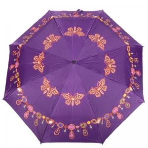 Зонт Складной Baldinini 18-OC Gioia Butterfly Lilla  фото-1