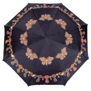Зонт Складной Baldinini 18-OC Gioia Butterfly Nero  фото-1