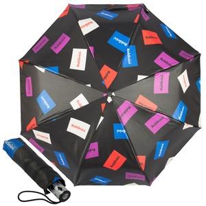 Зонт складной Baldinini 38-OC Plate Black  фото-1