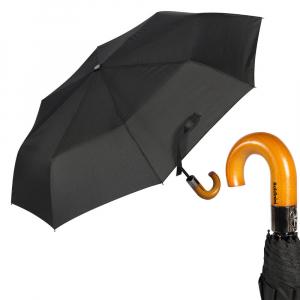 Зонт складной Baldinini 545-OC Fix Legno Black фото-1