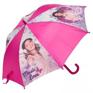 Зонт-трость Детский Disney Violetta Pink фото-1