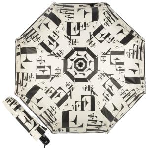Зонт складной Ferre 6034-OC Symbol Beige/Black фото-1