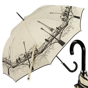 Зонт-трость Guy De Jean 1901-LM Bridge Crema long col9 фото-1