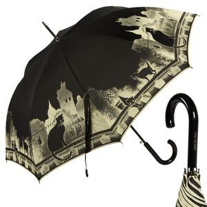 Зонт-трость Guy De Jean 3497-LA Cats Noir long фото-1