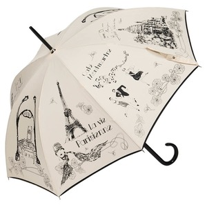 Зонт-трость Guy de Jean Love Paris Beige col18 фото-1