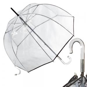 Зонт-трость Прозрачный Guy De Jean 1001-LM Seventies Noir фото-1