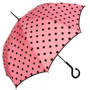 Зонт-трость Moschino 239-61AUTON Iconic dots Pink фото-1