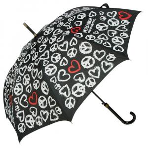 Зонт-трость Moschino 277-63AUTOA Peace Hearts Black фото-1
