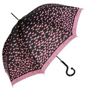 Зонт-трость Moschino 285-61AUTOJ Lipstick Hearts long Fuxia фото-1