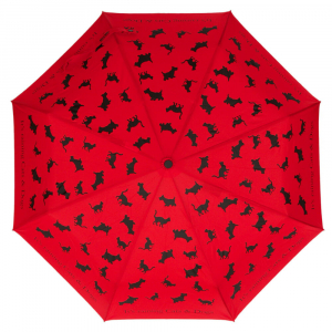 Зонт складной Moschino 310-OCC Raining Cats and Dogs Rosso фото-1