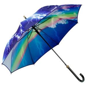 Зонт-трость Moschino 372-D63AUTOA Thunder and Rainbow long Black фото-1