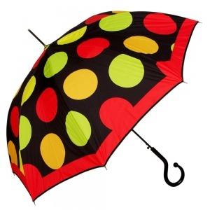 Зонт-трость Moschino 417-61AUTOA Maxi Pois long Black фото-1