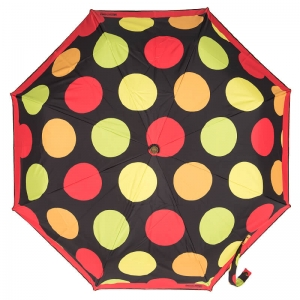 Зонт складной Moschino 417-OCA Maxi Pois Black фото-2