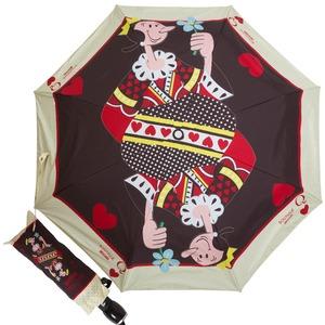 Зонт складной Moschino 7005-OCA Olivia Queen of Hearts Black фото-1