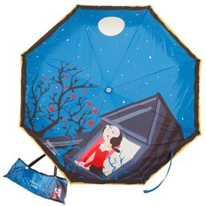 Зонт складной Moschino 7022-OCF Olivia Juliet Blue фото-1