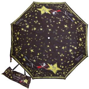 Зонт складной Moschino 7036-OCA Olivia Stars Black фото-1