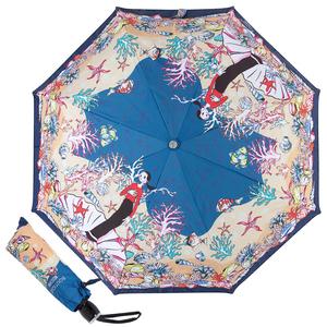 Зонт складной M 7116-OCF Olivia Under the Sea Blue фото-1