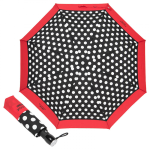 Зонт складной Moschino 7220-OCAC Polka Dots Black/Red фото-1