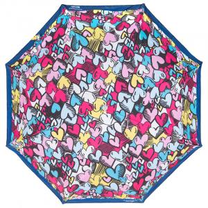 Зонт складной Moschino 7525-OCF Pop Hearts Blue  фото-2