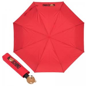 Зонт складной Moschino 8002-OCC Teddy Logo Red фото-1