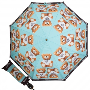 Зонт складной Moschino 8156-OCP Photo Bear Light Blue фото-1