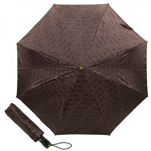 Зонт складной M 8190-OCE Jacquard Brown фото-1