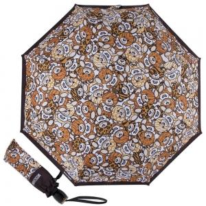 Зонт складной M 8232-OCA Teddy Animalier Black фото-1