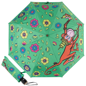 Зонт складной M 8261-OCM Cartoon Monkey Green Multi фото-1