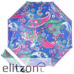 Зонт складной Moschino 8264-OCF Paisley Blue Multi фото-1