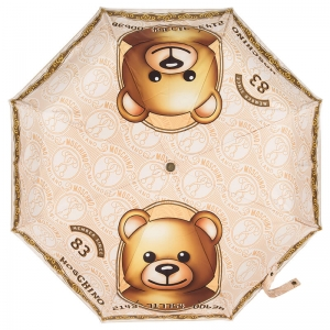 Зонт складной Moschino 8330-OCA Credit Card Bear Multi  фото-2