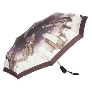 Зонт складной Moschino 7002-OCA Romantic City Black фото-2