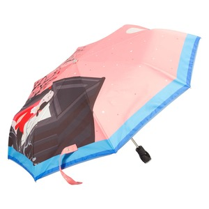 Зонт складной Moschino 7022-OCN Olivia Juliet Pink фото-2