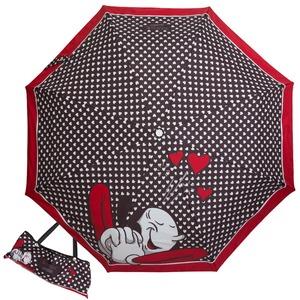 Зонт складной Moschino 7051-OCA Olivia In Love Black фото-1