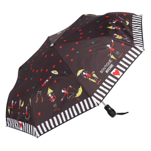 Зонт складной Moschino 7086-OCA Olivia Umbrellas Black фото-2