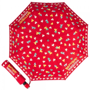 Зонт складной Moschino 7110-OCC Spray Hearts Red фото-1