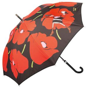 Зонт-трость Moschino 7520-D63AUTOC Olivia and Poppies Black/Red  фото-1