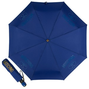 Зонт складной Moschino 8010-OCF Lettering Blue фото-1